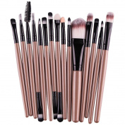 XILALU 15 pcs/Sets Eye Shadow Foundation Eyebrow Lip Brush Makeup Brushes Tool