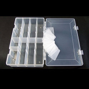 1 PC Arts Crafts Sewing Organisation Storage Transport Boxes Organisers Clear Beads Tackle Box Case H0914