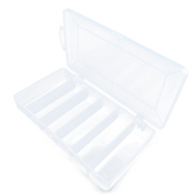 2 PCS Arts Crafts Sewing Organisation Storage Transport Boxes Organisers Clear Beads Tackle Box Case 037OQ