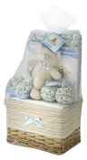 Big Oshi Baby Essentials Gift Basket 10-Piece Layette Set Infant up to 0-6 Months - Blue