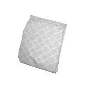 BKB Soho Fitted Bassinet Sheet, Grey, 33cm x 70cm
