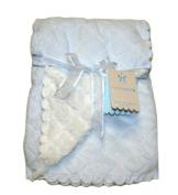 Monlapin Baby Blanket 80cm X 100cm , Clolor Light Blue/White