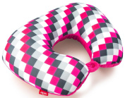 Heys Fashion Travel Pillow - Pink Cheque