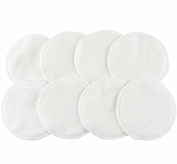 #1 BEST Washable Organic Bamboo Nursing Pads (8 PACK) with Cloth Bag - Reusable Breast Pads, Bra pads, Leakproof, Ultra soft, Waterproof, Hypoallergenic breastfeeding pads - By Little-Likes