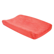 Trend Lab Porcelain Rose Coral Plush Changing Pad Cover, Coral