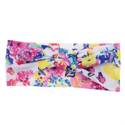 Baby Girls Head Wraps Floral Print Headband Kids Children Photo Props Turban Hair Accessories