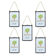 Nicola Spring Hanging Glass Vintage Photo Frame With Rope - 4x6 Photos - Pack Of 5