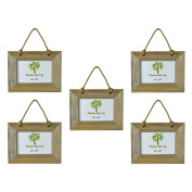Nicola Spring Wooden Hanging Photo Picture Frame - 15cm x 10cm - Pack Of 5