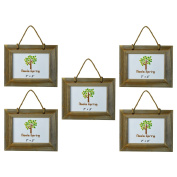 Nicola Spring Wooden Hanging Photo Picture Frame - 18cm x 13cm - Pack Of 5
