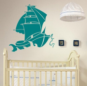 Wind Ship Kids and Child's Room Wall Sticker (Large
