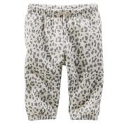 Baby B'gosh Cheetah Print Joggers, Grey, 24m