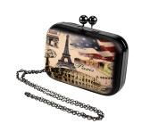 Paris USA hand clutch shoulder bag Beige and Black colour
