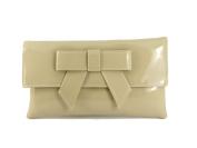 LONI Womens Cute Patent Faux Leather Clutch bag/Shoulder Bag