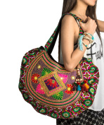 Hippie Handmade Shoulder Bag, Tote Boho Chic Patchwork Embroidered Purse, Gypsy Red Colourful Sling