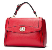 Bagtopia Women's Fashion Small Leather Top-handle Handbags OL Casual Satchel Purse with Flap & Turn-lock