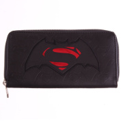 DC Comics Batman Vs. Superman Dawn Of Justice Logo Zip Wallet