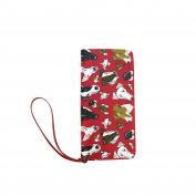 D-Story Smooth Fox Terrier Red Womens Clutch Wallet