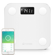 Yunmai Mini Bluetooth 4.0 Smart Scale & Body Fat Monitor - 10 Precision Body Composition Measurements - Body Fat, BMI & More - 16 Users recognised - Smartphone App for Healthy Weight Loss Tracking