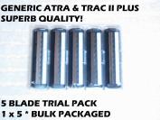 Generic Atra & Trac II Plus - 5 Blade Trial Pack