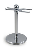 West Coast Shaving 301 Razor and Brush Stand, Chrome