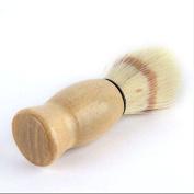 Bhbuy Professional Barber Salon Shave Shaving Razor Brush Wood Handle Tool Men Gift