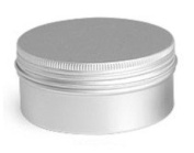 Aluminium Screw Top Tin with Cover, 8.3cm