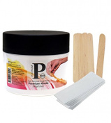 Sugaring Wax Paste with Strips and Applicator Hair Removal Paste for Bikini Brazilian Legs and Arms