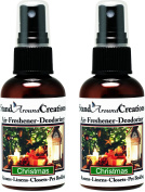 Set of 2 - Concentrated Spray For Room / Linen / Room Deodorizer / Air Freshener - 60ml - Scent - Christmas