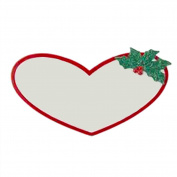 Kurt Adler Heart Name Tag w Sticky Back for Stocking Personalization 12cm x 7cm