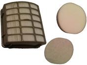 Shark Navigator Professional Filter Kit fits NV80, NV70, NVC80C, UV420, NV90 part # XFF80 & XHF80, by Casa Vacuums