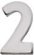 "Sterling Silver Number ""2"""
