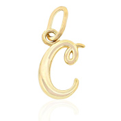 """Gold Lower Case Initial """"C"""" Charm, 10k Solid Gold"""