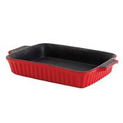 Crock Pot 114310.01RM Gibson Home Denhoff 25cm Rectangular Casserole Dish, Red