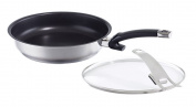 Fissler Steelux Protect Fry Pan with Glass Lid, One Size, Black