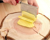 Dhrob Potato Wavy Edged Knife Stainless Steel Kitchen Gadget Vegetable Fruit Cutting Peeler Cooking Tool Accessories