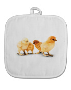 TooLoud Cute Chicks White Fabric Pot Holder Hot Pad