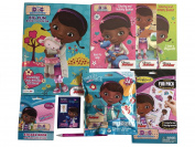 Doc McStuffins-Colorforms Fun Pack, Doc is In Puzzle, 111 Stickers & Sticker Book Play Scene, Big Fun Colour Book & Crayons, 3 activity books, including I Have a Diagnosis!, pencil--Great Disney value!