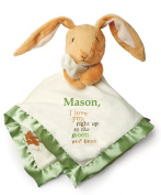 Kids Preferred Personalised Guess How Much I Love You Nutbrown Hare Snuggle Blanky Blanket - 36cm