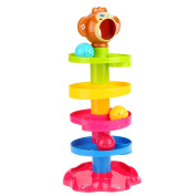 Goolsky Baby Childern Tower Puzzle Rolling Ball Bell Stackers Toys Kids Developmental Toy