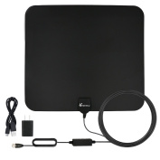 Vansky® Amplified Indoor HDTV Antenna 50 Mile Range with PowerSupply and 5m Coax Cable