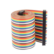 uxcell® 1.28 Metre 4.2ft 2.54mm Pitch 50P 50 Way F/F Rainbow IDC Flat Ribbon Cable Connector