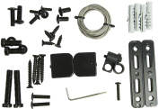 VIVO Anti-Tip Heavy Duty Solid Steel Cable Straps Safety Kit / Mounts to Flat Screen TV