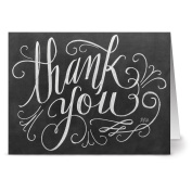 72 Note Cards for $22.99 - Handlettered Thank You - Blank Cards - Kraft Envelopes Included