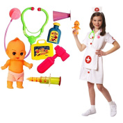 Toy Cubby Pretend Play Tools Kids Doll Doctor Nurse Medical Kit Set