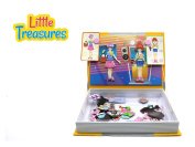 Little Treasures 71-Pcs Magnetic Dress-Up Set - Music Party Dressup Girl Toy Book for Kids Ages 3 Plus