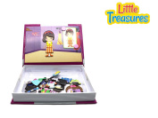 Little Treasures 81-Pcs Magnetic Dress-Up Set - Fashion Closet Dressup Girl Toy Book for Kids Ages 3 Plus