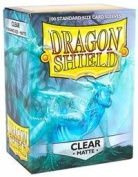 Dragon Shield Matte Clear 100 Deck Protective Sleeves in Box, Standard Size for Magic he Gathering