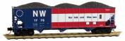 N & W 100-tonne 3-BAY HOPPER #1776