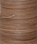 Natural Dye Pecan Brown Round Leather Cord 2mm x 50m SALE!