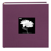 Pioneer 200 Pocket Fabric Frame Cover Photo Album, Wildberry Purple